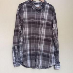 Columbia mens XXL gray plaid shirt (956)